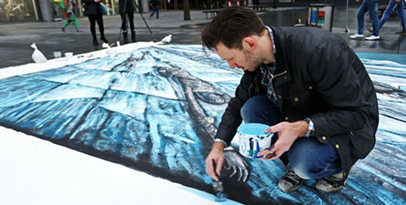Hbo Commissions 3d Street Art Of The Wall In London Single Servings