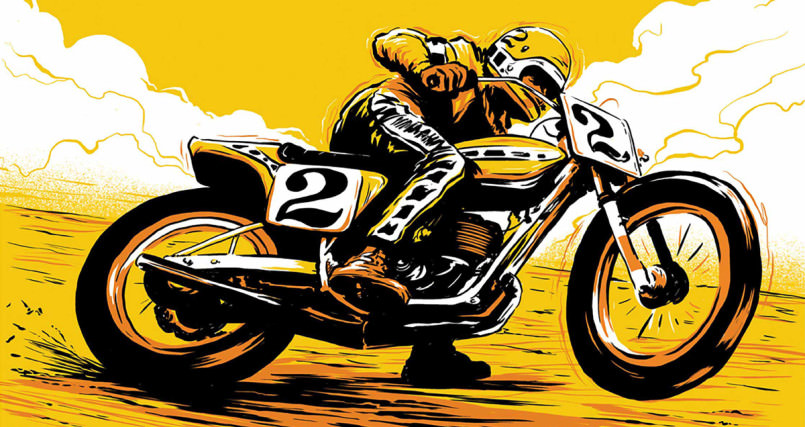 motorcycle motorcycles illustrations seen bike artist artists never before glorious even cartoon catral transcend formed boundaries doyle advertising traditional creative