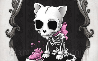 Cute and Macabre Illustrations by Aleksandra Marchocka
